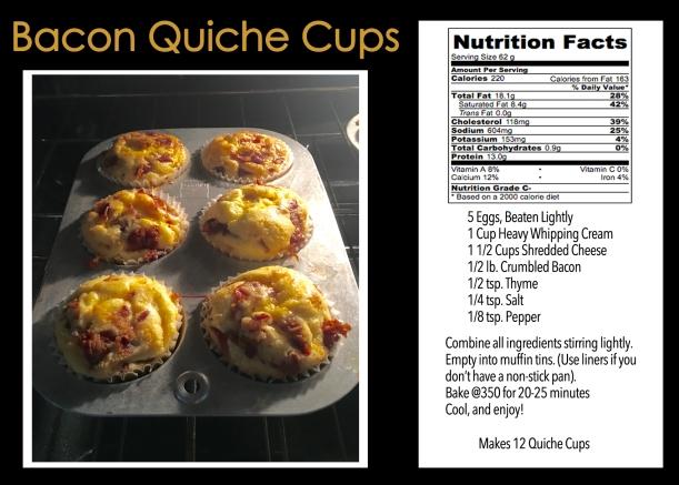 Bacon Quiche Cups