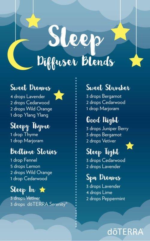 sleep diffuser blends